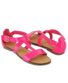 Crossed Strap Sandals | FOREVER21 $16.80