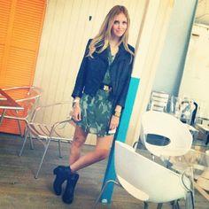 At Bcbgmaxazria yesterday - @Chiara Ferragni- #webstagram