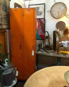 home decor for sale in Dallas, Texas White Elephant, Industrial Chic, Orange, Armoire, Lockers, Locker Storage, Buy And Sell, Deep, Cabinet