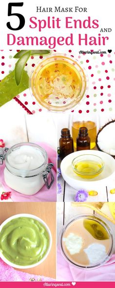 Get silky smooth hair with these 5 different DIY Hair Mask For Split Ends and repair your damaged hairs. The post 5 Best DIY Hair Mask For Split Ends appeared first on Hair Styles. Diy Hair Mask For Split Ends, Split Ends Hair, Hair Mask For Damaged Hair, Hair Masks, Damaged Hair Repair Diy, Repairing Hair Mask, Diy Hair Repair Mask, Wavy Hair, Hair Growth Mask Diy Recipes