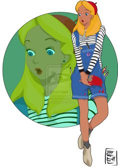 Disney University - Alice by on deviantART. LOVE this Disney University Fashion/Concept, just in time for the college grads -E Disney Fan Art, Disney Style, Disney Love, Disney Magic, Disney University, University Fashion, University College, Monster University, Modern Disney Characters