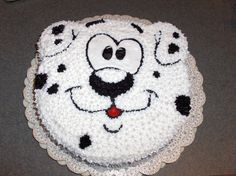 The cake I made for M's puppy theme birthday party.