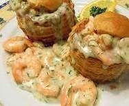 Rezept Gerrys einfaches aber feines Krabbenragout in Blätterteigpastete von Gerry kocht - Rezept der Kategorie Vorspeisen/Salate