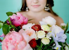 Colorful and fun bridal bouquet.
