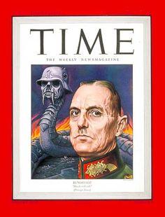 TIME Cover: Marshal von Rundstedt (1944, Boris Artzybasheff)