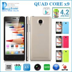 """2014 fashion mtk6589 phone quad core 1g ram android 4.2 os mobile phone dual camera 4.5"""" inch 960*540 qhd 3d 3g games wifi gps $178.00"""