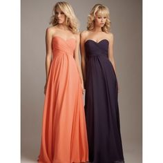 Bridesmaid dress - in orange