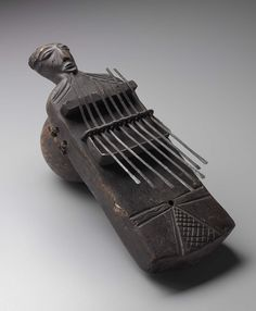 Lamellaphone, Holo people, century, Democratic Republic of the Congo Drum Musical Instrument, African Drum, Instruments, African Sculptures, Kalimba, Congo, Alternative Music, Vintage Music, World Music