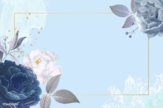 Purchasing Picture Frames Online: Getting What You Want Flower Background Wallpaper, Flower Backgrounds, Wallpaper Backgrounds, Wallpapers, Blue Roses, Blue Flowers, Molduras Vintage, Picture Frames Online, Blue Wedding Invitations