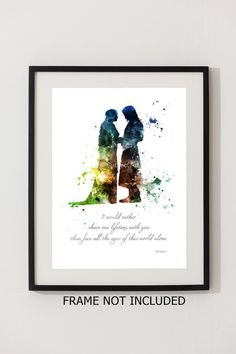Aragorn and Arwen Quote Lord of the Rings ART PRINT by SubjectArt