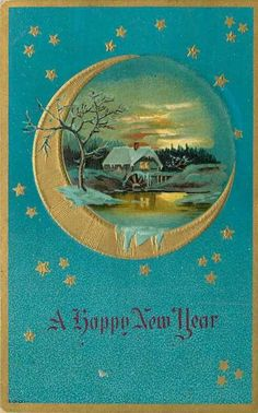 happy new year card vintage Vintage Greeting Cards, Vintage Christmas Cards, Retro Christmas, Christmas Images, Vintage Holiday, Christmas Art, Xmas, Vintage Happy New Year, Happy New Year Cards