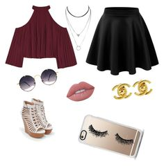 """""""hibbi and boheme. look for teen girls and women"""" by a-plougman on Polyvore featuring W118 by Walter Baker, Chanel, Lime Crime, JustFab, Spitfire and Casetify"""