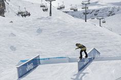 Spencer O'Brien rocking the slopestyle competition at the 2013 Tignes X Games #limitless