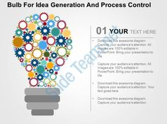bulb for idea generation and process control flat powerpoint design Slide01