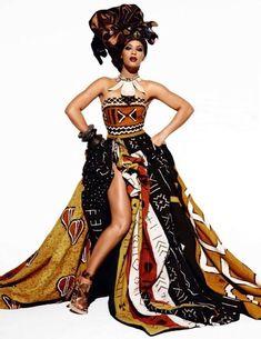 Beyonce for Vogue ~African fashion, Ankara, kitenge, African women dresses… African Wedding Dress, African Print Dresses, African Dresses For Women, African Attire, African Wear, African Women, African Style, African Prints, African Patterns