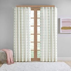 Shop for Intelligent Design Ensley Multi Cotton Jacquard Pom Pom Window Panel - X Get free delivery On EVERYTHING* Overstock - Your Online Home Decor Outlet Store! Home Curtains, Hanging Curtains, Window Curtains, Playroom Curtains, Pom Pom Curtains, Kids Curtains, Modern Curtains, Polka Dot Room, Bungalow