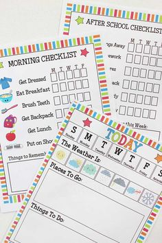 Make your school days stress free with these printable morning and after school routine checklists for kids. Kids Planner, School Planner, School Calendar, Kids Calendar, After School Checklist, After School Routine, School Routines, Make School, School Days