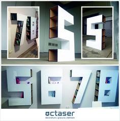 Octaser va ofera mobilier cifre confectionat din mdf 8 mm. si placat cu plexiglas alb.