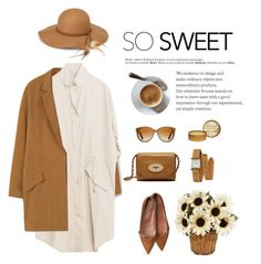 """""""CARAMEL"""" by sofiasolfieri ❤ liked on Polyvore featuring MANGO, Mulberry, Steve Madden, Shwood, Hermès, Hedi Slimane, classic, CasualChic and springtrend"""