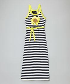 Look at this Black & White Amy Dress - Girls on #zulily today!