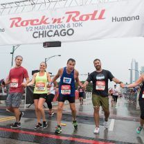 There was a 30-minute delay of race downpour, but everyone still rocked it at Rock 'n' Roll Chicago. Peep the photos!