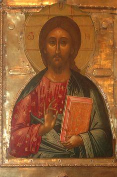 45443 - Иконография Господа Иисуса Христа: СПАС Вседержитель (Пантократор). Изображ. поясные