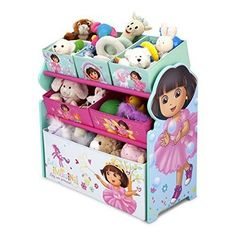 Dora the Explorer Multi-Bin Toy Organizer Kids Playroom Activity Storage Box New #DeltaChildren