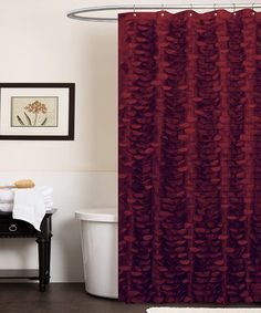This Red Georgia Shower Curtain is perfect! #zulilyfinds This for the bathroom. I need a POP of color in the sea of neutral!
