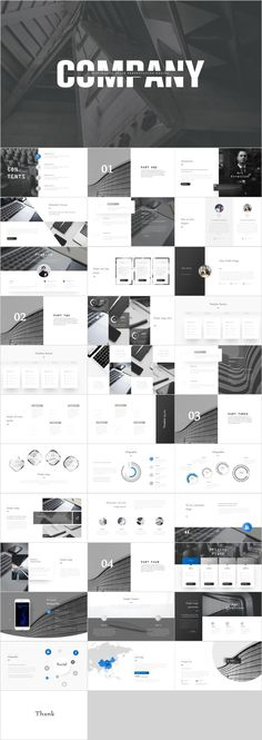 Gray company presentation template – The highest quality PowerPoint Templates and Keynote Temp. Powerpoint Presentation Themes, Powerpoint Design Templates, Layout Template, Keynote Template, Presentation Backgrounds, Powerpoint Free, Company Presentation, Presentation Layout, Business Presentation
