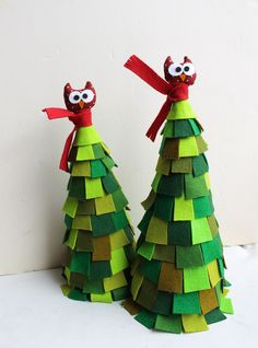 Christmas felt tree. Two, via Etsy.
