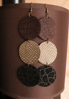 Leather Earrings. $8.00, via Etsy.