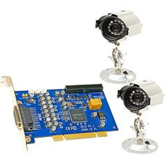 Q-See QSDT42DPCRC 4 Channel H.264 PCI DVR Card with 2 CCD Camera
