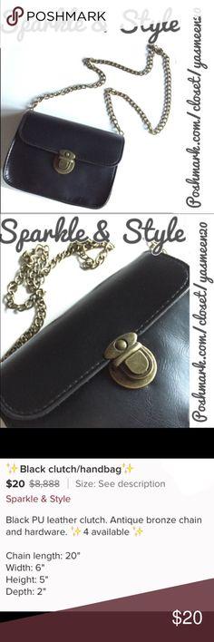 ✨Black clutch/handbag✨ See 3rd picture for description Sparkle & Style Bags