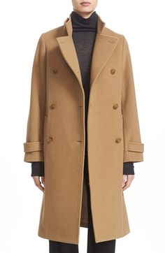 Vince Vince Stand Collar Wool & Cashmere Trench Coat available at #Nordstrom