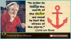 Corrie ten Boom - the worth of an anchor