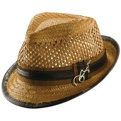 19a7baf56680e Vented Toyo Fedora with Leather Band - JCPenney