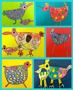Eläimet väripaperilla
