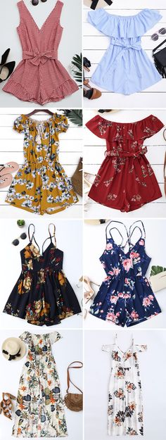 Jumpsuits&Rompers,Skirts,Leggings,Pants,Shorts,Jeans,Red bottoms,Harem  pants,Bodysuit,Midi skirt,Black jumpsuits,Black rompers,to find different bottom ideas @zaful Extra 10% OFF Code:ZF2017 Cute Summer Outfits, Cool Outfits, Casual Outfits, Fashion Outfits, Womens Fashion, Latest Outfits, Short Outfits, Short Dresses, Lovely Dresses
