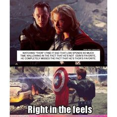 Man Right in The Feels Cheezburger ❤ liked on Polyvore featuring avengers, loki, marvel, pics and pictures