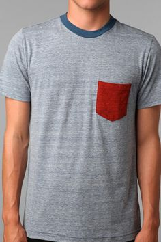 BDG Triblend Blocked Pocket Tee | Urban Outfitters $18.00
