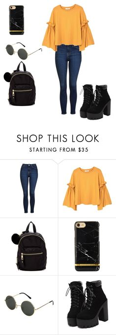 """""""Casual outfit really simple"""" by blancamarinfcheca ❤ liked on Polyvore featuring Topshop, MANGO and Madden Girl"""