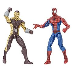 Marvel Legends Spider-Man & Shocker Figures 2-Pack, 3.75-inch. Highly articulated figures with comic-inspired design. Imagine swinging into action with Spider-Man and Marvel's Shocker 3.75-inch figures. Includes 2 figures. Collect other Legends Series figures (each sold separately).