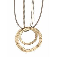 Smykkekunst Halskette Nora lang gold-beige