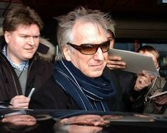 February 2006 - Alan Rickman arriving at the Berlin Airport for the 56th Berlin Int'l Film Festival.