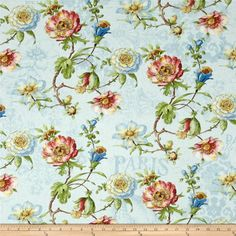 Designed by Lisa Audit for Wilmington Prints, this cotton print fabric is perfect for quilting, apparel and home decor accents. Colors include shades of blue, red, green and tan.