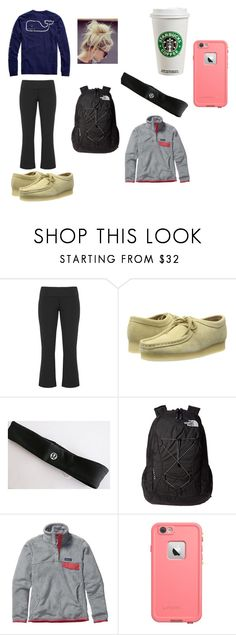 """vv and wallabees"" by taylorshumadine ❤ liked on Polyvore featuring Clarks, Vineyard Vines, lululemon, The North Face, Patagonia, LifeProof, women's clothing, women, female and woman"