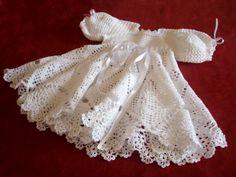 crochet christening dress