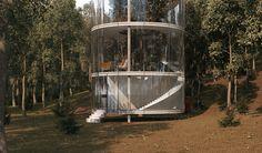 Casa na árvore de vidro - Revista Vidro Impresso