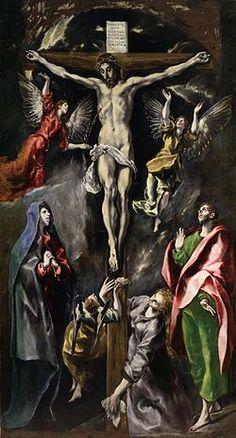 La Crucifixión. El Greco. Nuevo Testamento.