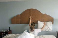 How to Create a Rustic Wood King Headboard - Pretty Handy Girl Diy King Headboard, Rustic Wood Headboard, Headboards For Beds, Diy Upholstered Headboard, Bedroom Furniture Makeover, Diy Bedroom Decor, Diy Bett, Headboard Designs, Headboard Ideas